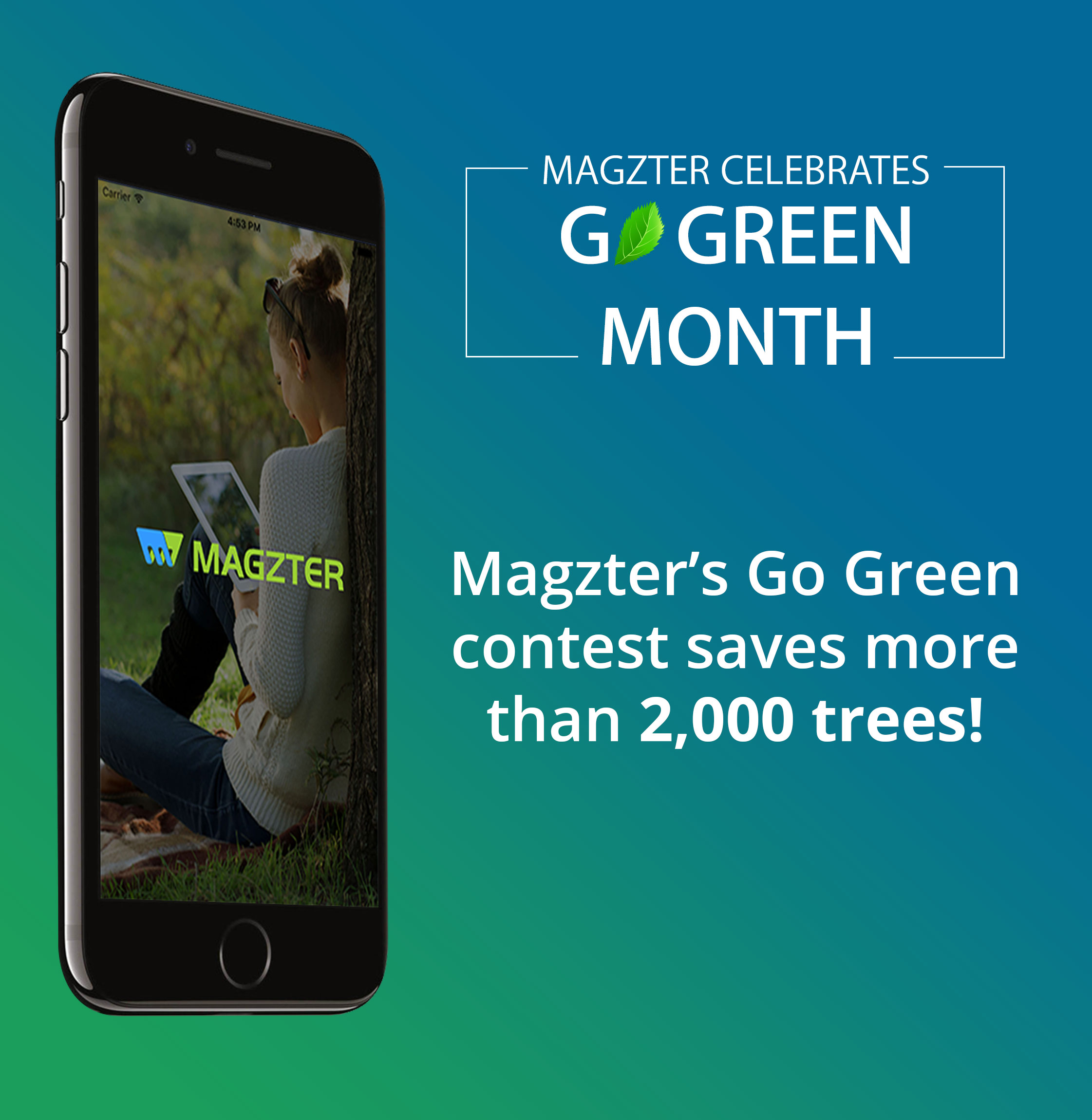 Magzter's Go Green Contest saves more than 2,000 Trees Image