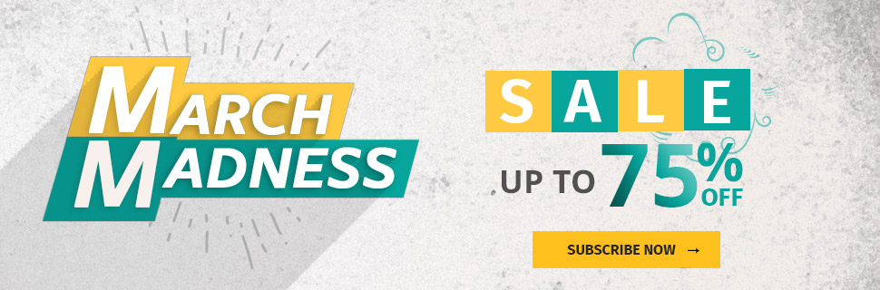 March Madness Sale! - UP TO 75% OFF