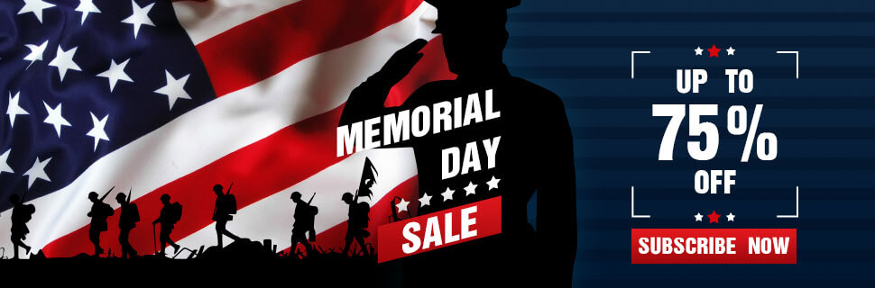 Memorial Day - Up to 75% off